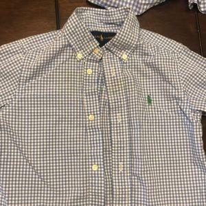 Blue check Ralph Lauren shirt